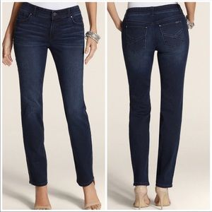 Chico's So Slimming Ankle Zippered Jeans